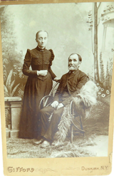 c1880s LARGE STUDIO PHOTO by GIFFORD, DUNKIRK, NEW YORK. Mr & Mrs DOTY