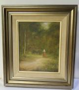 "Australian Geoff L. McKenzie oil on Canvas ""A Bush Stroll"""
