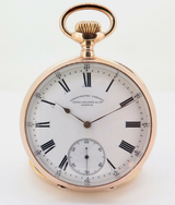 Antique Patek Philippe Chronometro Gondolo 18k Pink Gold 55mm Pocket Watch