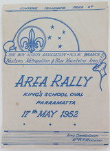 SCARCE 1952 BOY SCOUTS, NSW BRANCH, AREA RALLY PARRAMATTA SOUVENIR PROGRAMME