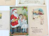 5 x 1920s AMERICAN USA CHRISTMAS XMAS POSTCARDS.