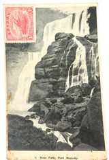 RARE EARLY 1900s PAPUA P.N.G PORT MORESBY POSTCARD WITH 1d STAMP.