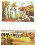 EARLY 1900s 2 x LUX SOAP ADVERTISING POSTCARDS. SYDNEY & WEEPING ROCK.