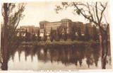 c1930 TORRENS LAKE & RAILWAY STATION, ADELAIDE, SOUTH AUSTRALIA POSTCARD.