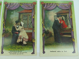"""EARLY 1900s SET 6 SERIES SAILOR & GIRLFRIEND UNUSED """"NATIONAL"""" UK ISSUED P/CARDS"""
