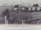 ISLE OF WIGHT. RARE EARLY 1900s POSTCARD. NEWPORT GENERAL VIEW NO 14 LL SERIES