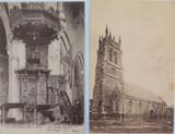 ISLE OF WIGHT. 2 x EARLY 1900's POSTCARDS. NEWPORT PARISH CHURCH.