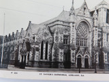 ADELAIDE, SA. VINTAGE REAL PHOTO POSTCARD. ST XAVIERS CATHEDRAL