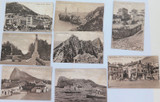 GIBRALTAR. EXCELLENT LOT EARLY 1900's POSTCARDS. ALL SAME SERIES. BENZAQUEN & CO