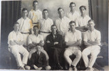 RARE 1921 REAL PHOTO POSTCARD IPSWICH GRAMMAR SCHOOL, 1ST CRICKET ELEVEN