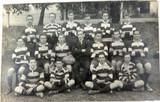 RARE 1922 REAL PHOTO POSTCARD IPSWICH GRAMMAR SCHOOL, 2ND 15 RUGBY. J A HUNT