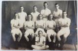 RARE c1917 REAL PHOTO POSTCARD IPSWICH GRAMMAR SCHOOL, ATHLETICS. J A HUNT