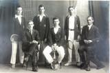 RARE 1922 REAL PHOTO POSTCARD IPSWICH GRAMMAR SCHOOL, 1ST's TENNIS. J A HUNT