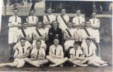 RARE 1922 REAL PHOTO POSTCARD IPSWICH GRAMMAR SCHOOL, ATHLETICS. COACH J A HUNT