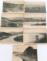 7 EARLY 1900s RUSSIAN SCENIC POSTCARDS DEPICTING RAILWAY ALL THE SAME MAKER