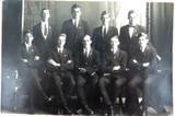 RARE 1920 REAL PHOTO POSTCARD IPSWICH GRAMMAR SCHOOL, STAFF PHOTO. J A HUNT