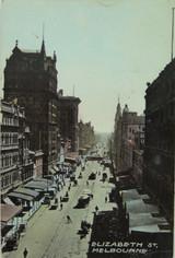 MELBOURNE ELIZABETH STREET VICTORIA 1910 POSTCARD