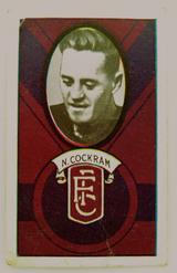 1933 ALLENS ALLEN'S FOOTBALLERS TRADING CARD. FITZROY , N COCKRAM CARD NO 127