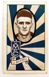 1933 ALLENS ALLEN'S FOOTBALLERS TRADING CARD. NORTH MELB , J BICKNELL CARD 121