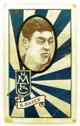 1933 ALLENS ALLEN'S FOOTBALLERS TRADING CARD. NORTH MELB , S BAKER CARD 120