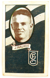 1933 ALLENS ALLEN'S FOOTBALLERS TRADING CARD. GEELONG , J WALKER CARD 106