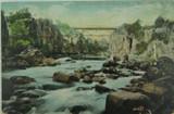 LAUNCESTON , CORRA LINN BRIDGE TASMANIA 1906 POSTCARD