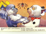 "BONZO VALENTINE'S POSTCARD NO 4311 ""DON'T LET ANYTHING WITH LEGS ON"" G E STUDDY"