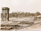 1919 REAL PHOTO OF AN AUSTRALIAN SAWMILL, NAME TO REAR.