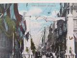 RARE EARLY 1900s PITT STREET SYDNEY PRINCE OF WALES VISIT UNUSED COLOUR POSTCARD