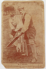 c1900 - 1910. SEPIA STYLE CRICKET THEME POSTCARD. KENDAL UK.