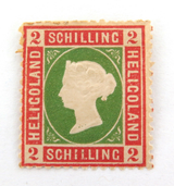 HELIGOLAND 1867 ENGLISH OCCUPIED QV 2 Sch MINT HINGED. NICE GRADE.