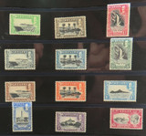 St LUCIA 1936 FULL SET of 12 KGV MINT NH / VLH STAMPS. 1/2d to 10/-