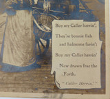 EARLY 1900's REAL PHOTO TUCKS FISHMONGERS WIFE POSTCARD, ILLUSTRATED SONGS.