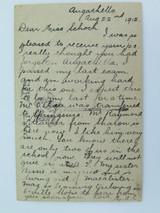 CORAL REEF QUEENSLAND 1912 POSTCARD