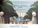 1940's / 50's BEAUTIFUL VIEWS GEELONG VIC FOLDOUT SOUVENIR POSTCARD. VALENTINES