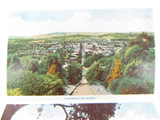 1940's / 50's BEAUTIFUL VIEWS ALBURY NSW FOLDOUT SOUVENIR POSTCARD VALENTINES