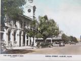 c1940's THE ROSE SERIES P8543 COLOUR POSTCARD. KIEWA STREET, ALBURY NSW
