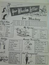"1950'S MACKAY , ""YOUR WHACKO LETTER"" POSTCARD BOOK QUEENSLAND"