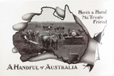 """VERY NICE EARLY 1900'S POSTCARD """"A HANDFUL OF AUSTRALIA. SOWING"""""""
