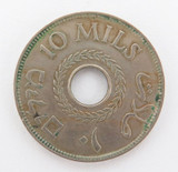 NICE GRADE WW2 ERA 1939 PALESTINE 10 MILS