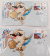 """2 X 2010 UNC $1 PNC FDC """"SHANGHAI WORLD EXPO"""" IN ORIGINAL PROTECTIVE SLEEVES."""