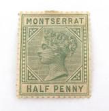 MONTSERRAT 1884 MINT QV 1/2d MH NICE GRADE STAMP.