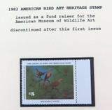 SCARCE USA AMERICAN STAMP. 1982 MINT SUPERB $5 FUND RAISER, DISCONTINUED.