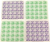 "1933 CHICAGO, USA 4 x IMPERF. MINT HIGH GRADE MINI SHEETS. ""CENTURY of PROGRESS"""
