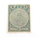 FIJI 1890s QV 1/2d MH STAMP. GOOD COLOUR, NICE GRADE.