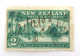 NEW ZEALAND NZ EDWARD VII 2/- 2 SHILLINGS HAND CANCELLED 21/12/09 USED HINGED.