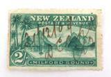 NEW ZEALAND NZ EDWARD VII 2/- 2 SHILLINGS HAND CANCELLED 21/12/09 USED HINGED.