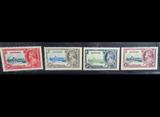 ASCENSION ISLAND 1935 KGV SET 4 MNH Og 1 1/2d to 1/-
