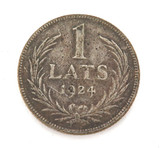 1924 LATVIA 1 LATS SILVER COIN. IN CIRCULATED CONDITION