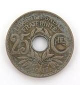 1917 FRANCE 25 CENTIMES.